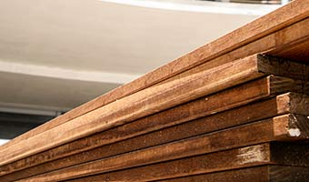 Stack of tropical hardwood